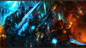 World Of Warcraft Nefarian World Of Warcraft KelThuzad World Of Warcraft Ragnaros World Of Warcraft  5760x1080 Wallpaper