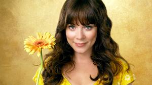 Actress Anna Friel Brunette Girl Long Hair Woman Yellow Flower 2252x1689 Wallpaper