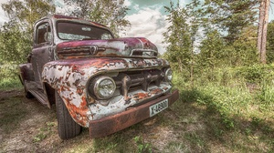 Old Rust Car Vehicle Wreck Outdoors Numbers 2048x1367 Wallpaper