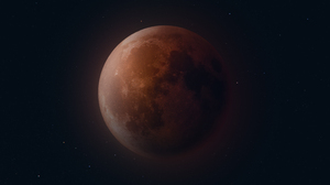 Blood Moon Lunar Eclipse Stars 5120x2880 wallpaper