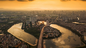 City Cityscape Urban Photography Building Water Golden Hour 2500x1792 wallpaper