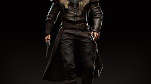 ArtStation CGi 3D Bounty Hunter Digital Art Fan Art Hugh Jackman Leather Clothing Fur Coats Leather  3072x3072 Wallpaper