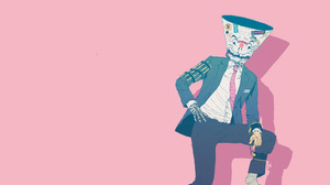 Queens Of The Stone Age Villains Pink Background Tie Artwork Pink 1920x1080 Wallpaper