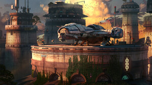 Corellian Tanker Vehicle Spaceship Star Wars Digital Art Rasmus Poulsen ArtStation Science Fiction S 1920x837 wallpaper