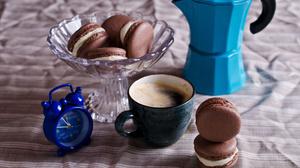 Coffee Cup Drink Macaron Still Life 3700x2450 Wallpaper