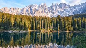 Lake Mountain Nature Reflection 6040x3916 wallpaper