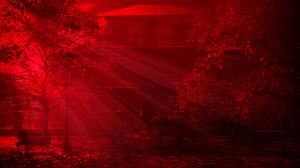 CGi Digital Art 3D Graphics Mansion Vampira Sun Rays 1920x1080 Wallpaper