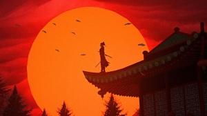 Artwork Asian Asian Architecture Sunset 1920x1080 wallpaper