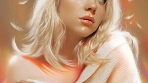Ya Ar Vurdem Digital Art Women White Hair Songwriters Fan Art Singer Looking Up Music Shoulder Lengt 3840x4608 Wallpaper