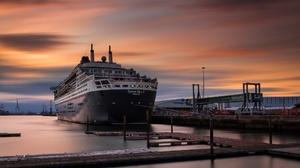 England UK Southampton England Ship Sky Vehicle Cruise Ship Queen Mary 2 2048x1152 Wallpaper