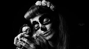 Face Black Amp White Makeup 2048x1365 Wallpaper