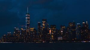 City New York City Lights USA 3000x2000 Wallpaper