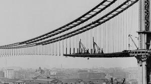 Construction Manhattan Bridge Old Photos 3840x1080 Wallpaper