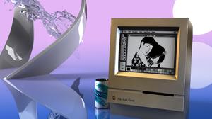 Render Vaporwave Macintosh CGi Computer 3D Vintage Technology 3840x2160 Wallpaper