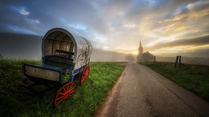 Vehicle Road Outdoors Sky Landscape Sunlight 3840x2160 Wallpaper