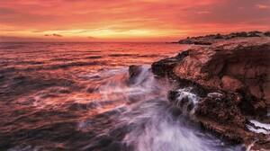 Sky Rock Shore Coast Ocean Sea Horizon 2048x1348 Wallpaper