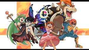 Bayonetta Bayonetta 2 F Zero Kid Icarus Uprising Super Mario Super Smash Bros Palutena Kid Icarus Bo 3615x2580 Wallpaper