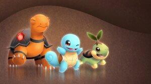 Pokemon Squirtle Pokemon Torkoal Pokemon Turtwig Pokemon 1920x1200 Wallpaper