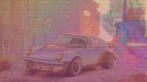 Porsche Cyberpunk 2077 Vaporwave Diplopia 3840x2160 Wallpaper