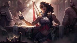 Samira League Of Legends League Of Legends Riot Games Adcarry ADC Desert Rose 3840x2160 Wallpaper