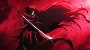 Akame Akame Ga Kill Anime Girls Anime Red Background Sword Girls With Swords Long Hair 2007x1135 Wallpaper