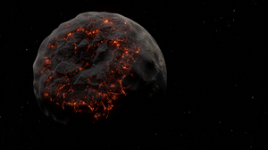 Space Planet Stars Digital Digital Art Blender Procedural Generation Dust Smoke Fire 1920x1080 Wallpaper