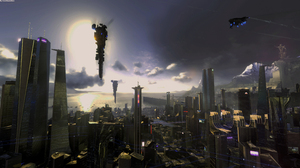 City Sci Fi 3840x2160 Wallpaper