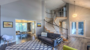 Furniture Living Room Room Stairs 4000x1849 Wallpaper
