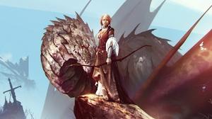 Archer Bow Dragon Girl Woman Warrior 1920x1280 Wallpaper