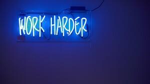 Blue Neon Sign Statement 3840x2160 wallpaper