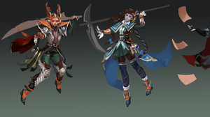 Fantasy Women Warrior 3370x1205 Wallpaper