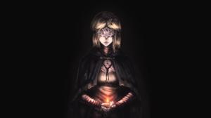 Dark Souls Firekeeper Dark Souls Blonde Cape Cloaks Jin Grey 2560x1440 Wallpaper