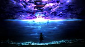 Cloud Momiji Inubashiri Scenery Sea Shrine 1600x1100 Wallpaper