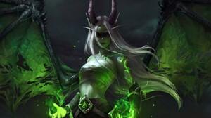Demon Girl Horns White Hair Wings Woman 1920x1412 Wallpaper