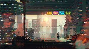 Artwork Concept Art Futuristic City 1920x1080 Wallpaper