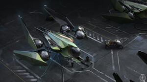 Render CGi ArtStation Artwork Vehicle Science Fiction Star Citizen Spaceship 3840x2160 Wallpaper