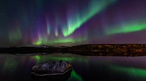 Aurora Borealis Landscape Light Nature Night Norway Reflection Rock 1920x1281 Wallpaper