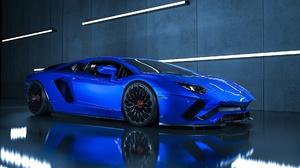 Blue Car Car Lamborghini Lamborghini Aventador Sport Car Supercar Vehicle 1920x1080 Wallpaper