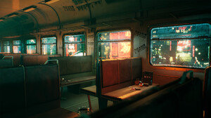 City Train Lights ArtStation 3D 3D Graphics 1920x1080 Wallpaper