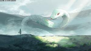 Anime Snake Anime Girls Touhou Kochiya Sanae 5000x2500 Wallpaper