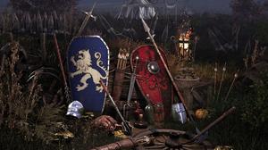 Weapon Medieval Shield Arrows Spear 4K 3840x2160 Wallpaper