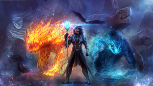 Creature Elemental Magic Wizard 2500x1462 Wallpaper