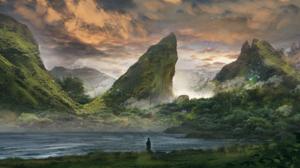 Fantasy Landscape 2606x1340 Wallpaper