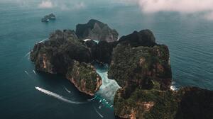 Thailand Aerial View Island 5464x3070 wallpaper
