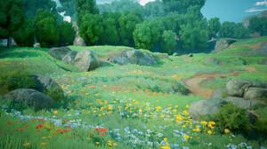 Nature Flowers Trees Rocks Grass William Tate 1904x970 Wallpaper