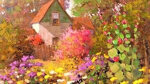 Artistic Colorful Colors Impressionist Painting 2175x1704 Wallpaper