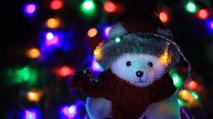 Christmas Teddy Bear 3456x2304 Wallpaper