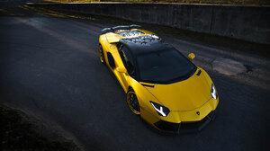 Car Lamborghini Lamborghini Aventador Sport Car Supercar Yellow Car 3840x2562 Wallpaper