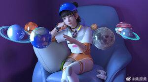 JYANME Anime Girls Planet 1920x1080 Wallpaper