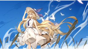 Bird Blonde Hat Jeanne D 039 Arc Fate Series Long Hair Purple Eyes Ruler Fate Apocrypha Tie 2430x1450 Wallpaper